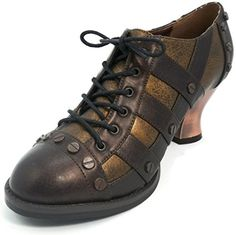 Hades Brown Jade Oxford Shoes UK 6.5 - Steampunk