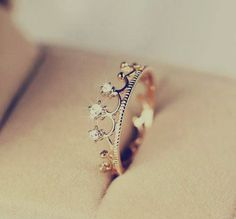 "a ""just because"" ring. great way for a man to say ""you're my princess"" ;)"