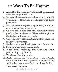 Dez maneiras de ser feliz
