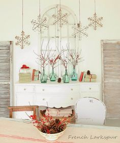 French Larkspur: French finds and Christmas Decorating