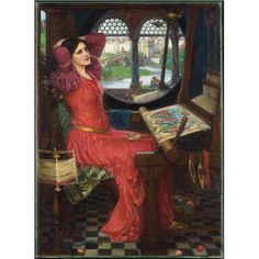 "Born #otd in 1849 John William Waterhouse returned time and time again to the poem by Lord Tennyson and to this tragic romantic figure illustrating powerful moments of the tale in a series of distinctive believable images.  John William Waterhouse "" 'I am half sick of shadows' said The Lady of Shalott"" (Alfred Lord Tennyson The Lady of Shalott Part II) 1915. Oil on canvas 100.3 x 73.7 cm. Gift of Mrs. Philip B. Jackson 1971. Image  2017 Art Gallery of Ontario (via @agotoronto)"
