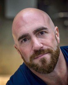 Bald Men With Beards, Bald With Beard, Bald Man, Great Beards, Beard Love, Awesome Beards, Scruffy Men, Hairy Men, Handsome Man
