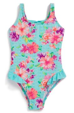 Hula Star 'Country Charm' One-Piece Swimsuit (Toddler Girls) available at #Nordstrom