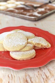 Fresh Market Copycat Almond Pillow Cookies by The Noshery #cookies #almond #copycat