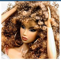 Hey look! They made me a Barbie, guys! Buy the Rachel Barbie in stores near you. Beautiful Barbie Dolls, Pretty Dolls, Curly Hair Styles, Natural Hair Styles, Back Home, African American Dolls, African Dolls, Black Barbie, My Black Is Beautiful