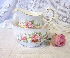 Vintage Paragon China Sugar and Cream Set by TheWhistlingMan