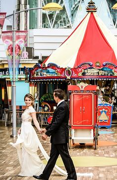 The secret to dream wedding photos: the perfect backdrop. Coney  Island-inspired Boardwalk against the Caribbean waters is just one of  many unique photo ops to capture your unforgettable day.