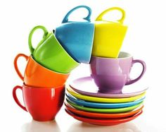 Rainbow tea cup & saucer ~ Ʀεƥɪאאεð вƴ ╭•⊰✿ © Ʀσxʌאʌ Ƭʌאʌ ✿⊱•╮