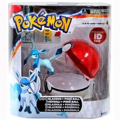 "Amazon.com: TOMY Pokemon Clip 'N"" Carry Pokeball ~ Glaceon Figure & Pokeball: Toys & Games"