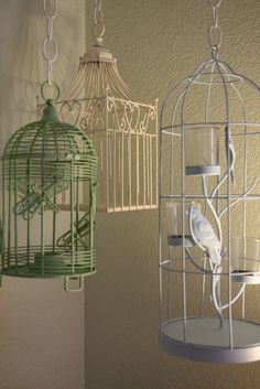 Hanging Bird Cage Tutorial....This is what I want to do in my bedroom!