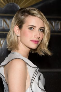 Emma Roberts' short bob haircut #hair