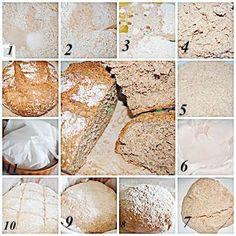 Paine de casa fara framantare, din faina integrala Light Recipes, My Recipes, Pizza E Pasta, Gluten, Healthy, Sweet, Easy, Breads, Food