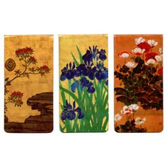 Japanese florals magnetic bookmarks. Need to pick these up the next time I visit the Metropolitan Museum of Art...