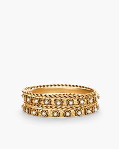 Chico's Women's Chloe Bangles, Pearl, Size: One Size