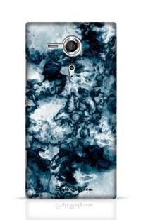 Blue Marble Texture Background Sony Xperia SP Phone Case