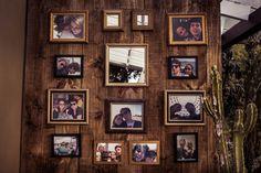 Decoração com fotos do casal - Casamento Lissa Fedrizzi e Thiago Cruz