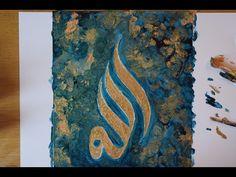 Create Arabic Islamic Calligraphy Art - الله - YouTube