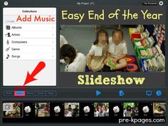 Add Music to Your End of the Year Slideshow End Of Year Activities, Library Activities, Teaching Activities, Kindergarten Graduation, High School Graduation, Graduation Ideas, Pre K Graduation Songs, Student Picture, Pre K Pages