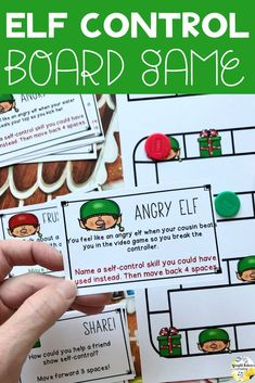 Help students learn self-control strategies with the elves! This Christmas themed self-control board game allows students to discuss strong feelings and identify self-control coping strategies. #brightfuturescounseling #elementaryschoolcounseling #elementaryschoolcounselor #schoolcounseling #schoolcounselor #christmasactivitiesforkids #holidayactivitiesforkids #selfcontrol #selfcontrolforkids #selfcontrolactivitesforkids #selfcontrolgames Elementary School Counselor, School Counseling, Elementary Schools, Holiday Activities For Kids, Impulse Control, Bullying Prevention, Strong Feelings, Social Emotional Learning, Self Control