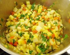 Vegetable White Bean Hash from our November VegCookbook, Forks Over Knives