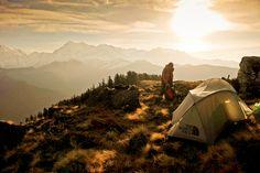 { camping | mountain climbing }