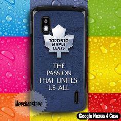 Toronto Maple Leafs NHL The Passion Hockey Logo Google Nexus 4 Case
