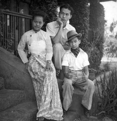 Prince Saimong of Kengtung (Myanmar) and his wife, Mi Mi Khaing.