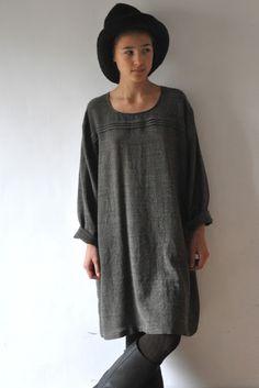 dark linen look japanese tunic.  yep - another one