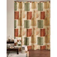 """""""The fruit of the spirit..."""" Tranquility Inspirational Sentiments Fabric Shower Curtain"""