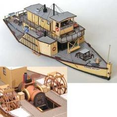Cardboard models of steamers and Sydney ferry
