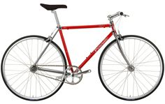 The Pinarello Catena Fixie Bike is made of CrMo steel, uses a fixed gear transmission and boasts a retro Pinarello headbadge. Urban Cycling, Urban Bike, Online Bike Store, Gear S, Bikes For Sale, Fixed Gear, Vintage Bicycles, Car Parts, Steel