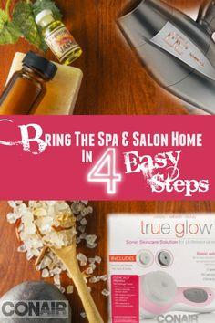 Bring The Spa & Salon Home In 4 Easy Steps, By Barbie's Beauty Bits. @conairbeauty #ConairDoItYourSELFIE #spa #DIYBEAUTY