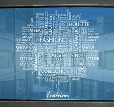 Get these cool #fashion text conceps with words like #style #model #clothes and #elegance fo9r your #shopwindow or #office! #tenstickers #decoration