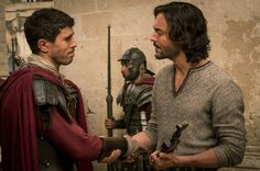Toby Kebbell as Messala and Jack Huston as Judah Ben-Hur