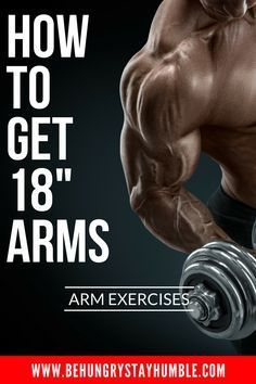 Learn more than 8 of the best arm exercises for growing your biceps and triceps. You'll also get the full workout for free so that you can start forcing your arms to grow! #bodybuilding #armworkout #workoutsformen #fitness #biceps #triceps