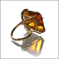 DeCosmo likes--> Cocktail Rocks Ring - Amber Rock Rings, Diamond Girl, Rock Jewelry, Yesterday And Today, Girls Best Friend, Cuff Bracelets, Amber, Jewelery, Cocktails