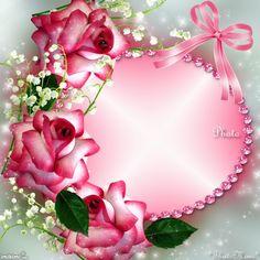 Romancing the Rose.By Maria Elena Lopez. Flower Picture Frames, Flower Frame, Molduras Vintage, Disney Frames, Photo Frame Design, Birthday Frames, Montage Photo, Frame Background, Rose Frame