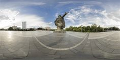 Pomnik Kościuszkowców w porcie praskim panorama