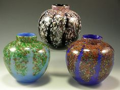 Wisteria Round Vases by Rosetree Glass Studio in New Orleans, LA