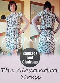 Free sewing pattern ragbags and gladrags - Made by the Sea: Introducing...The Alexandra Dress