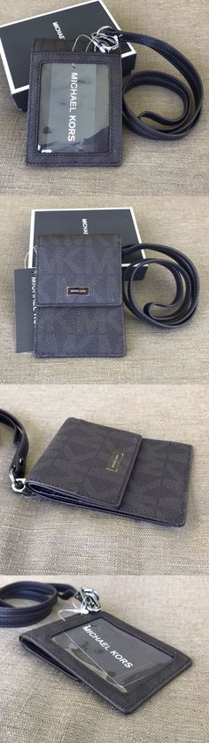 Business and Credit Card Cases 105860: Michael Kors Men S Gifting Lanyard Card Id Holder Case With Gift Box -> BUY IT NOW ONLY: $70 on eBay!