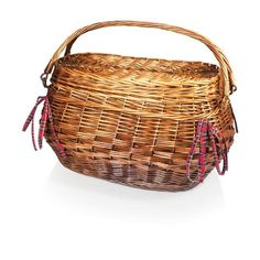 Highlander Deluxe Willow Picnic Basket - Red Tartan. The Highlander picnic basket has old world charm and sophistication like no other basket. This rich chestnut brown willow basket is lined with quilted red tartan cotton and has deluxe service for four. It comes with all the amenities you will need.