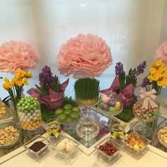Tomorrow is #nowruz which is the #PersianNewYear. It's customary to make a #haftsin table which has 7 items that start with the letter S in #Farsi. Happy first day of #spring everyone!!! #candybarcouture