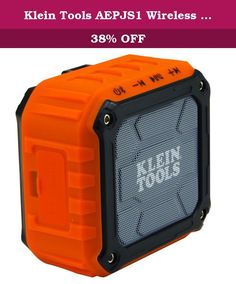 Klein Tools AEPJS1 Wireless Jobsite Speaker. The Klein Tools AEPJS1 is a powered speaker that provides 5 watts of high-quality sound for smart phones, tablets, computers and other audio devices via a wireless Bluetooth* connection or Wired auxiliary input. It answers calls hands free with the built-in speakerphone and can be magnetically attached to any steel surface, attached to Klein's Lighted tool bag (CAT. No. 55431), mounted to a standard 1/4-20 tripod, attached to a lanyard, or…