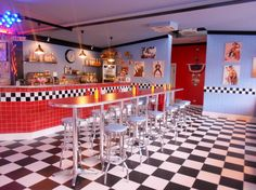 1950 Diner Booths | 1950′s American Diner in Florence, no really!