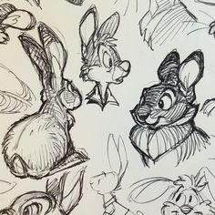 Bunny ballpoint doodles (slide for more)