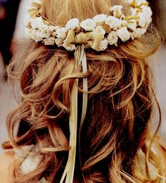 Flower Halo: Depending if it fits the dress and if it doesn't look too earth child.