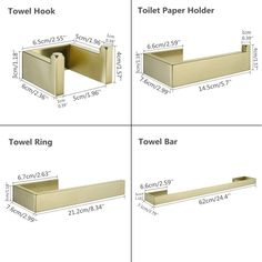 Stainless Steel Adhesive Bathroom Accessories Set Brushed Gold Towel Bar Towel Hook Wall Towel Ring Toilet Paper Holder on AliExpress Cheap Baths, Towel Rings, Towel Hooks, Bathroom Accessories, Toilet Paper, Adhesive, Home Improvement, Hardware, Stainless Steel