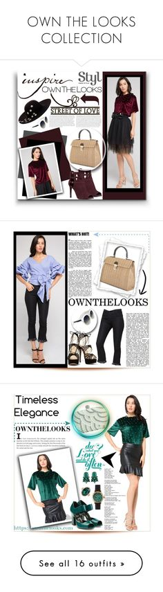"""""""OWN THE LOOKS COLLECTION"""" by purplerose27 ❤ liked on Polyvore featuring Nine West, Betsey Johnson, chic, ownthelooks, Pierre Hardy, ALDO, Shinola, Steve Madden, Eugenia Kim and Miu Miu"""