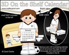 3D On The Shelf Everlasting Calendar Kit - Little Footballer Clifton